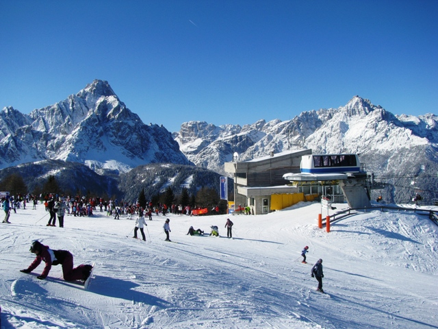 Skiing in the Italian Dolomites