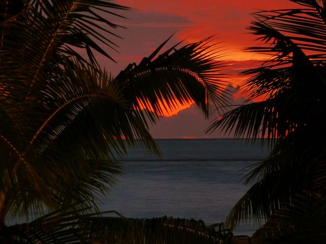 Sunset in Polynesia