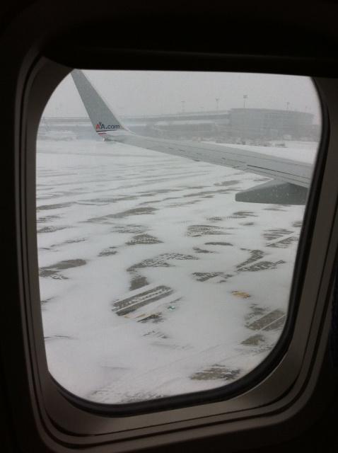 A huge snowstorm in progress