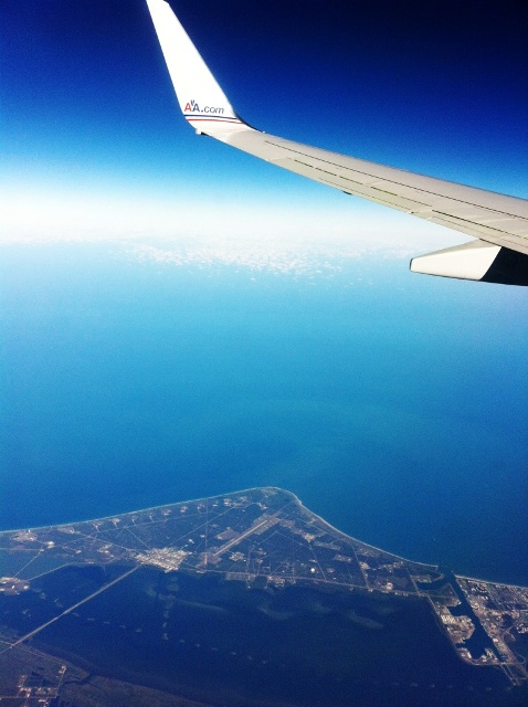 Flying over Cape Canaveral