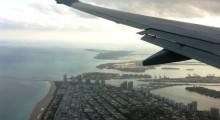 Our flight approaches Miami