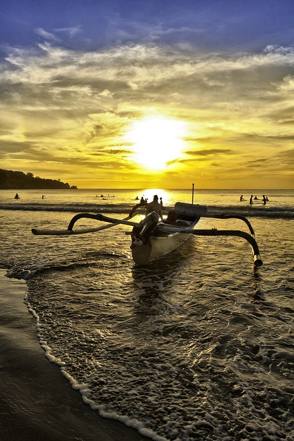 Jimbaran Bay in Bali, Indonesia