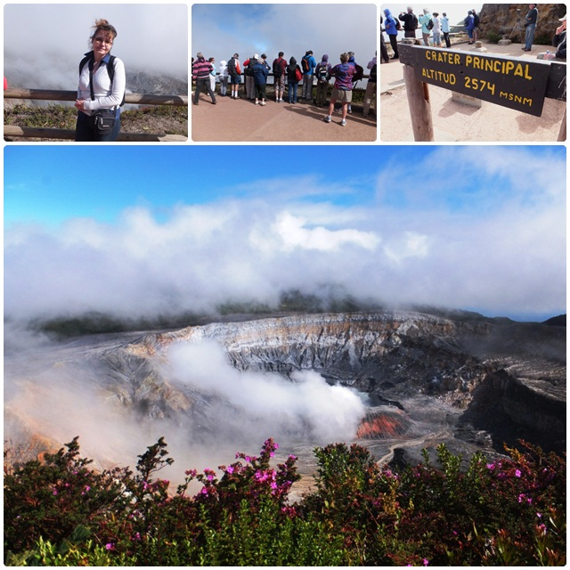 Views of the Poas Volcano