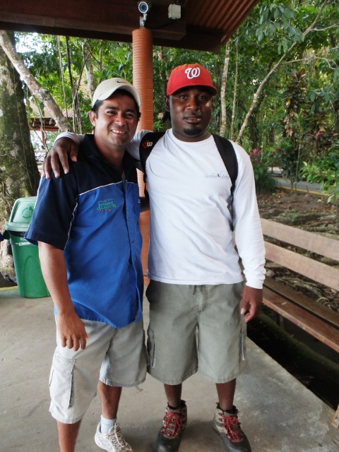 Anselmo, our captain, & Adrian, our nature guide