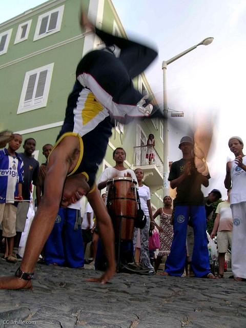 Capoeira action in Cape Verde