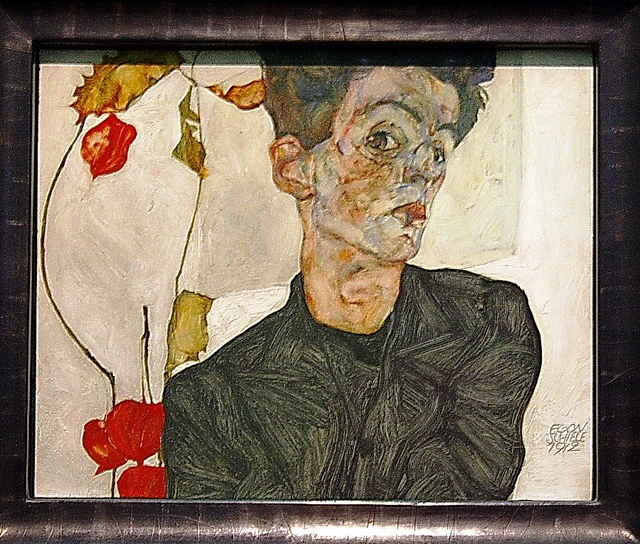 Self-portrait by Egon Schiele