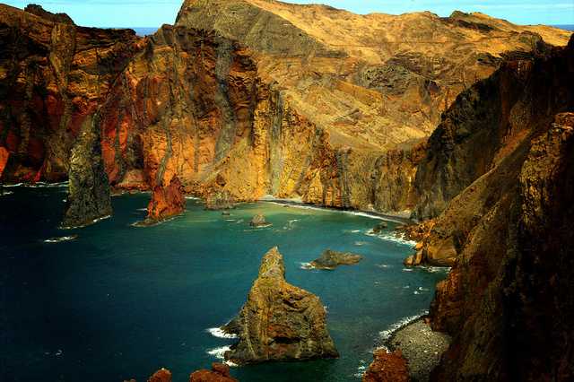 The rugged volcanic landscapes of Madeira