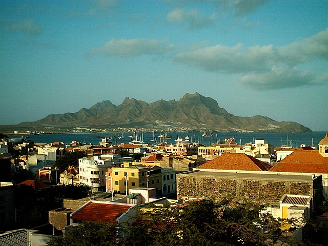 View over Mindelo Bay