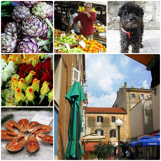 The colourful market of Zadar