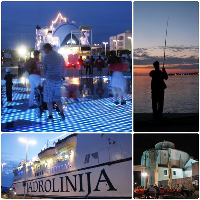 Evening action in Zadar