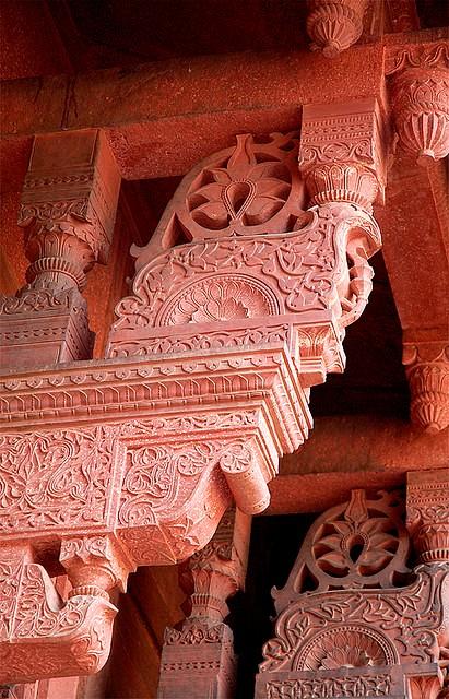 Agra Fort stonework