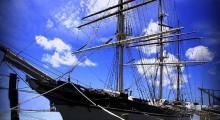 Historic ship at the Galveston Strand