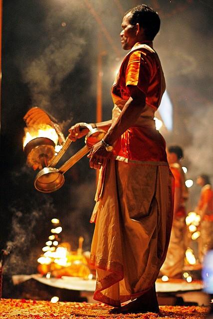 Aaati ritual in Varanasi