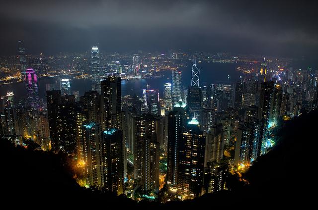 Honk Kong's skyline