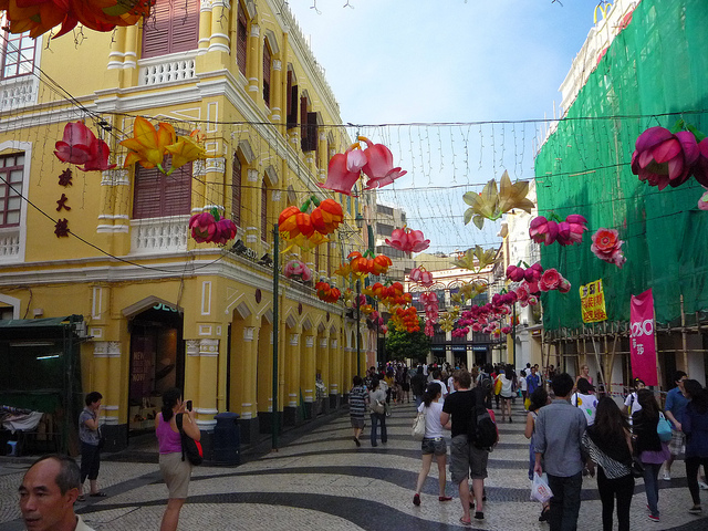 The colourful streets of Macau
