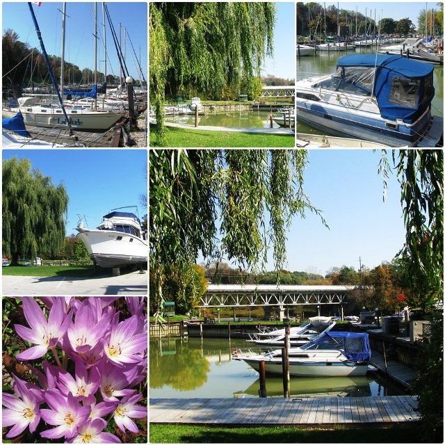 The picturesque harbour of Bayfield