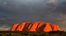 The sacred mountain of Uluru