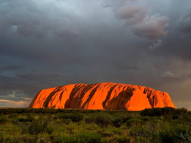 The sacred mountain of Uluru