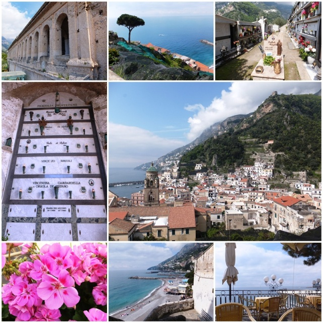 The historic cemetery of Amalfi