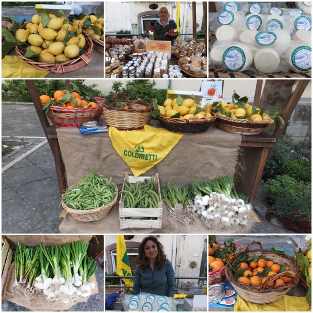 Farmers market in Salerno