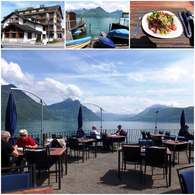 Lunch on gorgeous Lake Lucerne