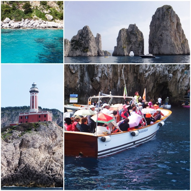 A boat ride with a stop at the Blue Grotto