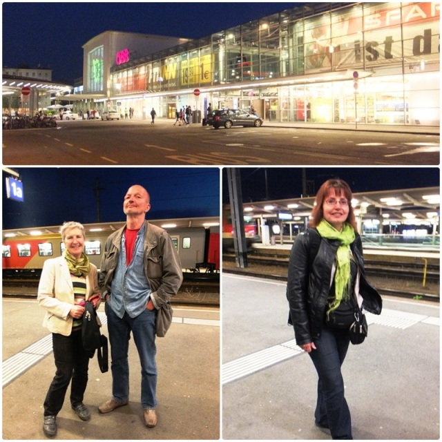 Saying goodbye at the Graz train station