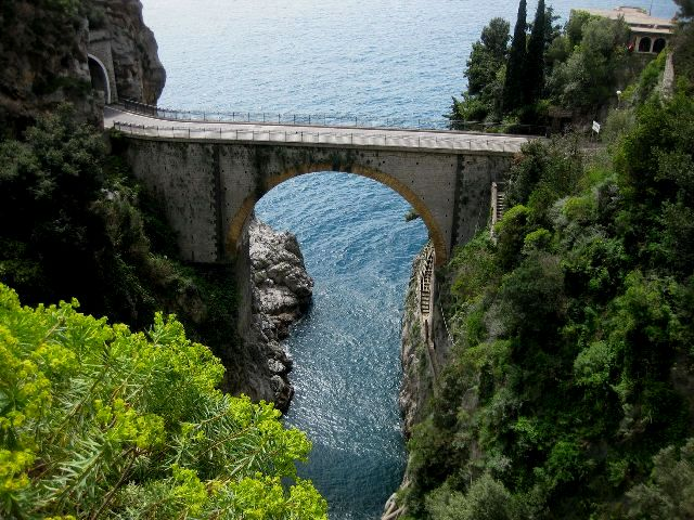 The Furore fjord on the Amalfi Coast