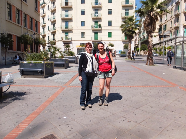 Eva (on the right) and I in Salerno