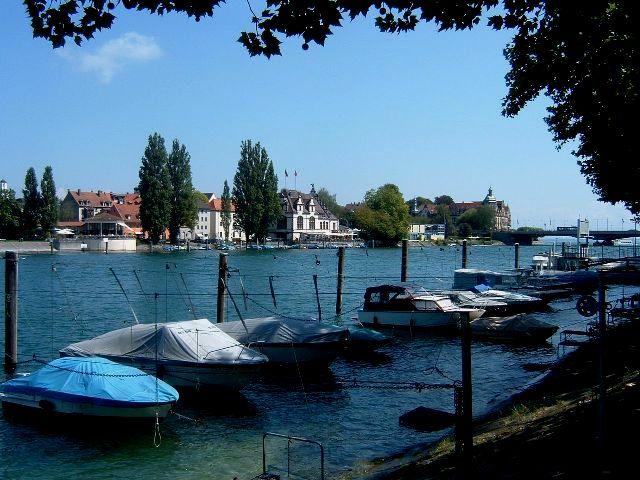 The promenade next to the Rhine River in Constance