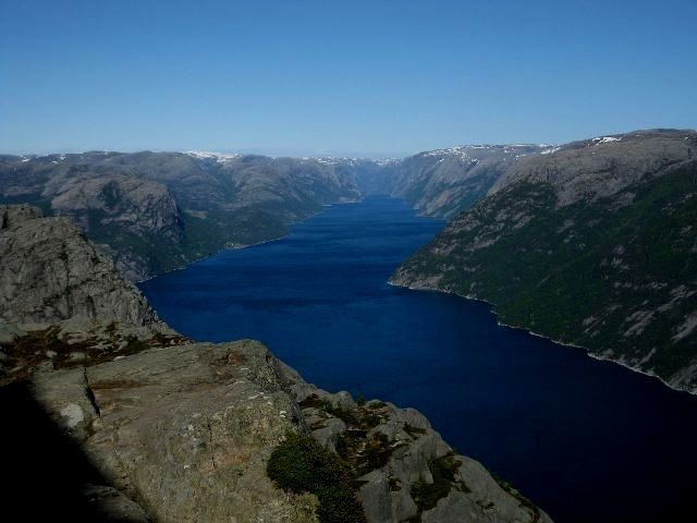 Amazing views from the Preikstolen Mountain in Norway