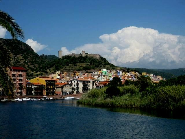 Bosa, a town on the west coast of Sardinia