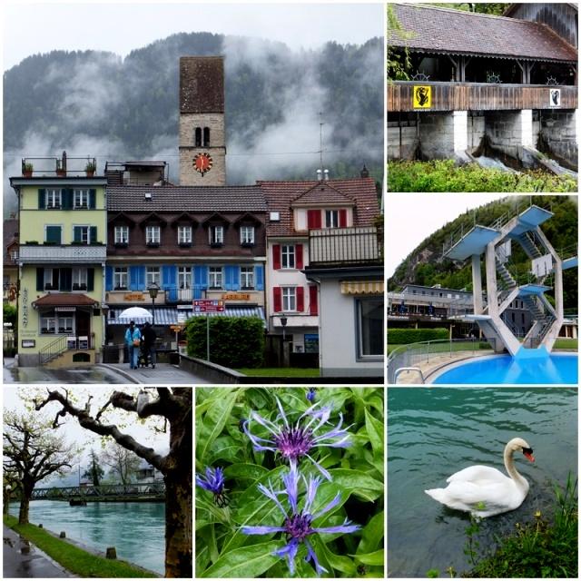 More views of Unterseen, including the Bödelibad swimming pool