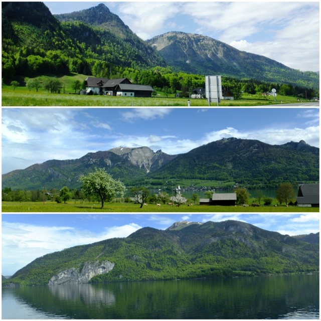 Landscapes around the Wolfgangsee Lake