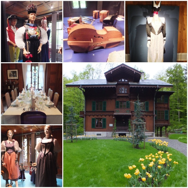 Traditional Swiss costumes on display
