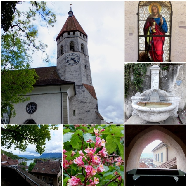 The views from the Stadtkirche Thun are amazing