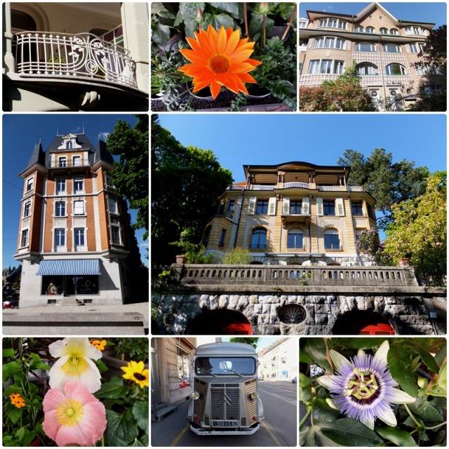 A walk through the neighbourhoods north of the Aare River in Bern Switzerland