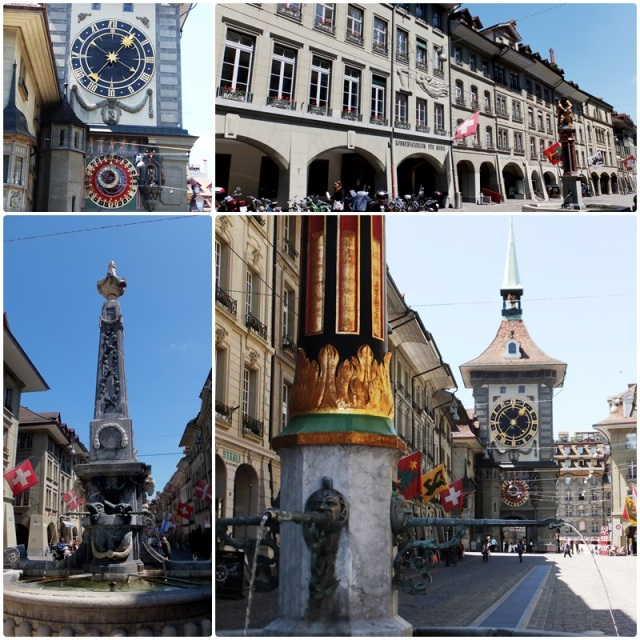 Bern Switzerland: the famous Zytglogge & Marktgasse