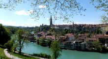 Bern Switzerland: view over the Aare River