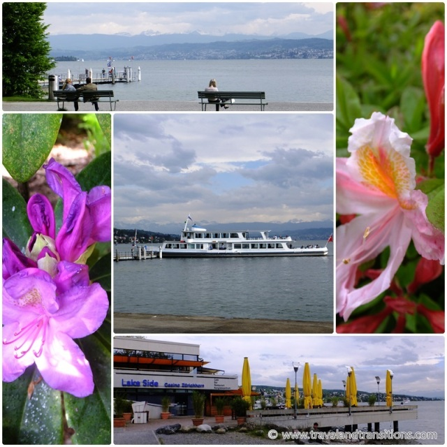 Taking a boat is a great way to explore Zurich Switzerland