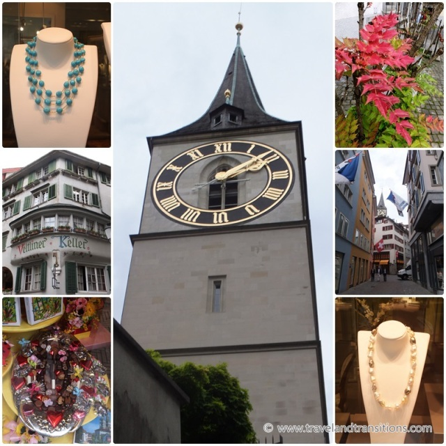 he huge clockface of the St. Peterskirche in Zurich, Switzerland