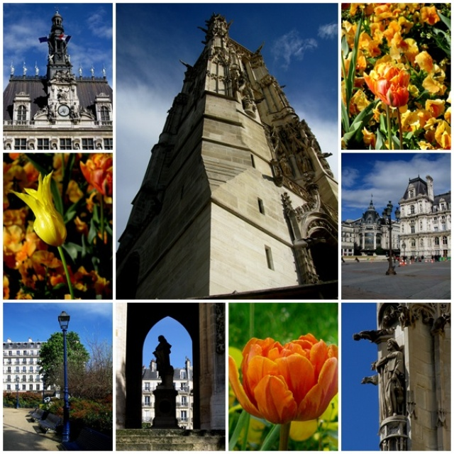 Tour St. Jacques & the Hotel de Ville of Paris