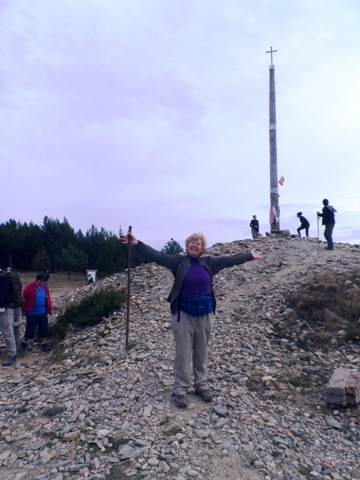 Ingrid at the Cruz de Ferro