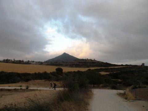 Castillo de Villamayor de Monjardin in the distance