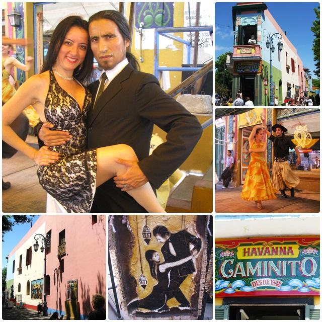 Live tango action in La Boca