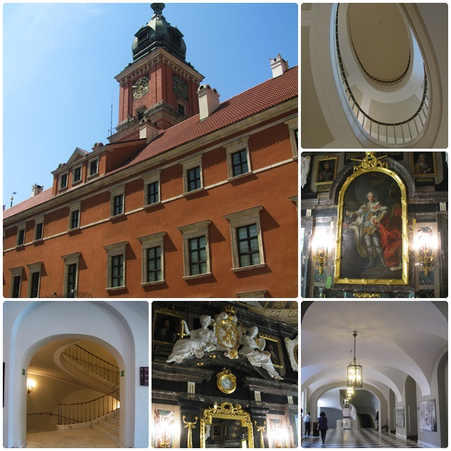 Warsaw's Royal Palace - rebuilt in the 1970s and 1980s