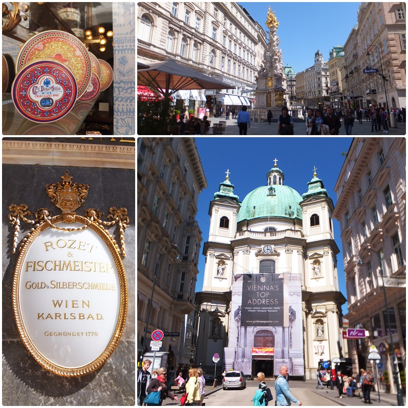 The Peterskirche and the Graben, two iconic destinations in Vienna
