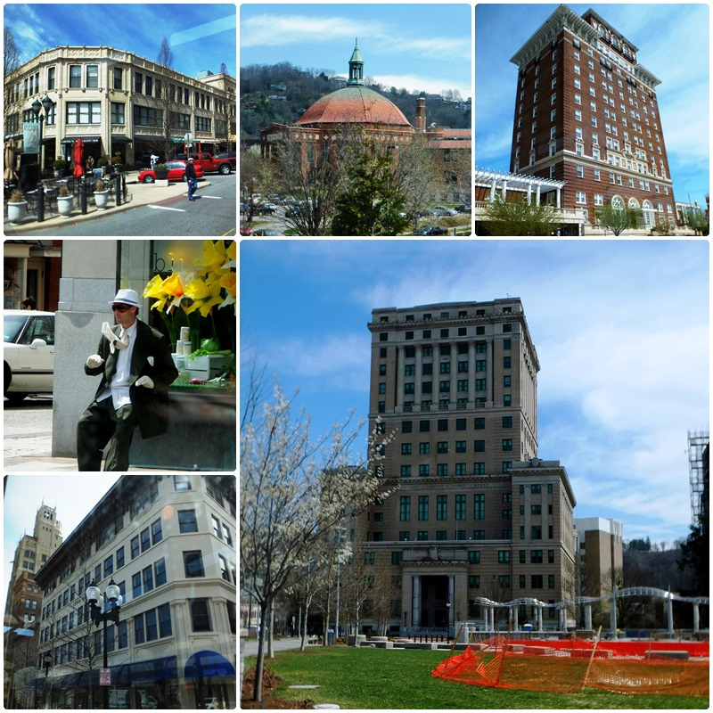 Some main sights in Asheville as seen from the trolley