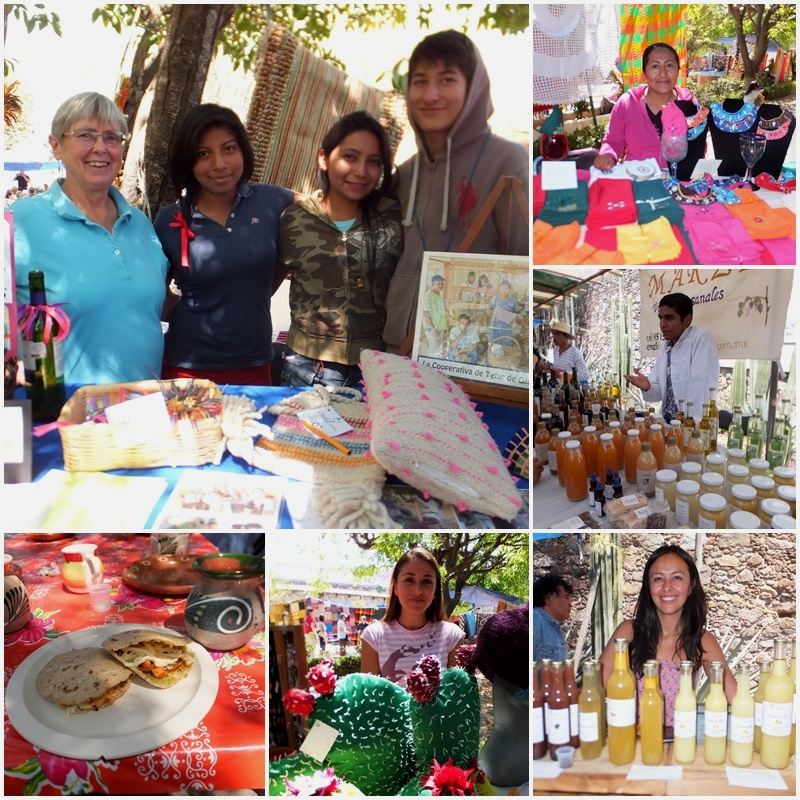 Many NGOs do outreach at the Organic Market in San Miguel de Allende