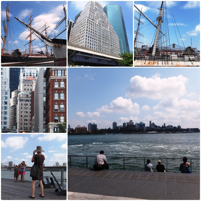 The South Street Seaport, a great place to relax by the waterfront